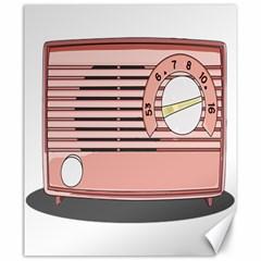 Pink Retro Radio Canvas 20  X 24  (unframed) by hoddynoddy