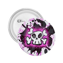Cartoon Skull  2 25  Button by ArtistRoseanneJones