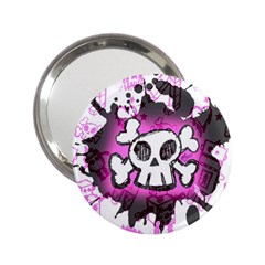 Cartoon Skull  Handbag Mirror (2 25 ) by ArtistRoseanneJones