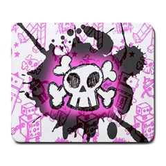 Cartoon Skull  Large Mouse Pad (rectangle) by ArtistRoseanneJones