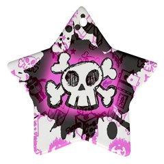 Cartoon Skull  Star Ornament (two Sides) by ArtistRoseanneJones