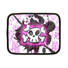 Cartoon Skull  Netbook Sleeve (small) by ArtistRoseanneJones