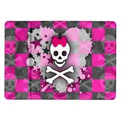 Princess Skull Heart Samsung Galaxy Tab 10.1  P7500 Flip Case by ArtistRoseanneJones