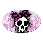 Sketched Skull Princess Magnet (Oval)