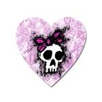 Sketched Skull Princess Magnet (Heart)