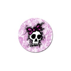 Sketched Skull Princess Golf Ball Marker 4 Pack by ArtistRoseanneJones
