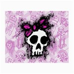 Sketched Skull Princess Glasses Cloth (Small, Two Sided)