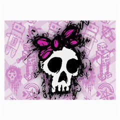 Sketched Skull Princess Glasses Cloth (large) by ArtistRoseanneJones