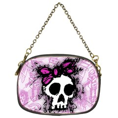 Sketched Skull Princess Chain Purse (one Side) by ArtistRoseanneJones