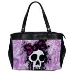 Sketched Skull Princess Oversize Office Handbag (One Side)