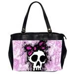 Sketched Skull Princess Oversize Office Handbag (Two Sides)