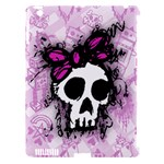 Sketched Skull Princess Apple iPad 3/4 Hardshell Case (Compatible with Smart Cover)