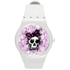 Sketched Skull Princess Plastic Sport Watch (medium) by ArtistRoseanneJones