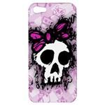 Sketched Skull Princess Apple iPhone 5 Hardshell Case