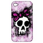 Sketched Skull Princess Apple iPhone 4/4S Hardshell Case (PC+Silicone)