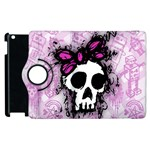Sketched Skull Princess Apple iPad 3/4 Flip 360 Case