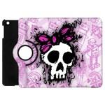 Sketched Skull Princess Apple iPad Mini Flip 360 Case