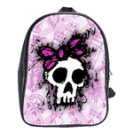 Sketched Skull Princess School Bag (XL)