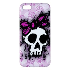 Sketched Skull Princess Apple Iphone 5 Premium Hardshell Case by ArtistRoseanneJones