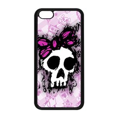 Sketched Skull Princess Apple Iphone 5c Seamless Case (black) by ArtistRoseanneJones