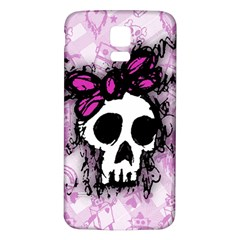 Sketched Skull Princess Samsung Galaxy S5 Back Case (white) by ArtistRoseanneJones