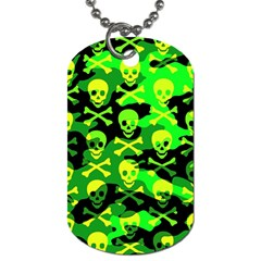 Skull Camouflage Dog Tag (one Sided) by ArtistRoseanneJones