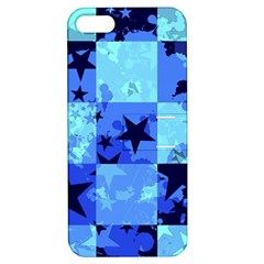 Blue Star Checkers Apple Iphone 5 Hardshell Case With Stand by ArtistRoseanneJones