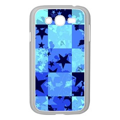 Blue Star Checkers Samsung Galaxy Grand Duos I9082 Case (white) by ArtistRoseanneJones