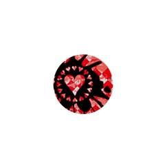 Love Heart Splatter 1  Mini Button by ArtistRoseanneJones
