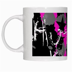 Pink Scene Kid White Coffee Mug by ArtistRoseanneJones
