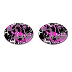 Pink Scene Kid Cufflinks (oval) by ArtistRoseanneJones