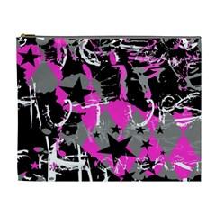Pink Scene Kid Cosmetic Bag (xl) by ArtistRoseanneJones