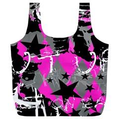 Pink Scene Kid Reusable Bag (xl) by ArtistRoseanneJones