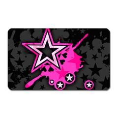 Pink Star Graphic Magnet (Rectangular) by ArtistRoseanneJones