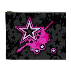 Pink Star Graphic Cosmetic Bag (xl) by ArtistRoseanneJones