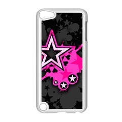Pink Star Graphic Apple Ipod Touch 5 Case (white) by ArtistRoseanneJones