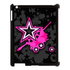 Pink Star Graphic Apple Ipad 3/4 Case (black) by ArtistRoseanneJones