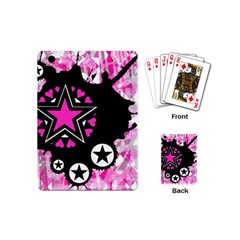 Pink Star Splatter Playing Cards (mini) by ArtistRoseanneJones