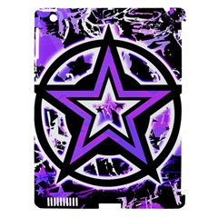 Purple Star Apple Ipad 3/4 Hardshell Case (compatible With Smart Cover) by ArtistRoseanneJones