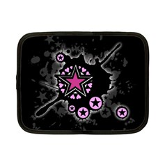 Pink Star Explosion Netbook Sleeve (small) by ArtistRoseanneJones