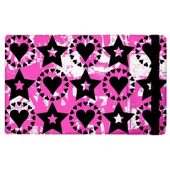 Star And Heart Pattern Apple Ipad 3/4 Flip Case by ArtistRoseanneJones