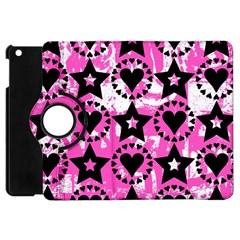 Star And Heart Pattern Apple Ipad Mini Flip 360 Case by ArtistRoseanneJones