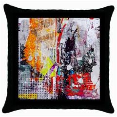 Abstract Graffiti Black Throw Pillow Case by ArtistRoseanneJones
