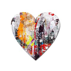 Abstract Graffiti Magnet (heart) by ArtistRoseanneJones