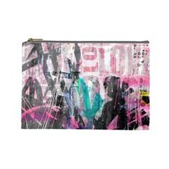 Graffiti Grunge Love Cosmetic Bag (Large) by ArtistRoseanneJones