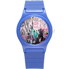 Graffiti Grunge Love Plastic Sport Watch (small) by ArtistRoseanneJones