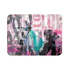Graffiti Grunge Love Double Sided Flano Blanket (mini) by ArtistRoseanneJones