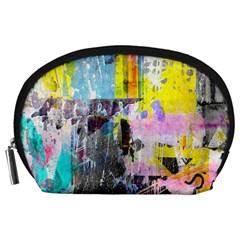 Graffiti Pop Accessory Pouch (Large) by ArtistRoseanneJones