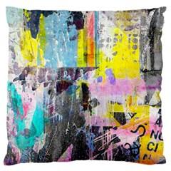 Graffiti Pop Large Flano Cushion Case (one Side) by ArtistRoseanneJones