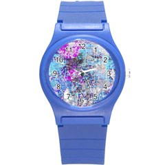 Graffiti Splatter Plastic Sport Watch (small) by ArtistRoseanneJones